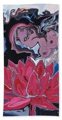 Beach Sheet featuring the digital art Lotus Love by Rabi Khan