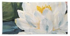 Beach Towel featuring the painting Lotus by Maria Langgle
