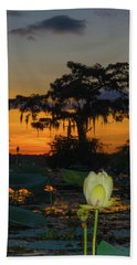 Lotus On Da Bayou Beach Towel