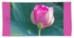 Lotus Pink Beach Towel