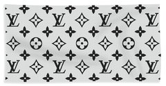 Louis Vuitton Pattern Lv 07 Grey Beach Towel