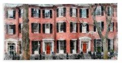 Louisburg Square Beacon Hill Boston Beach Towel