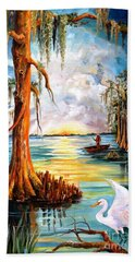 Louisiana Bayou Beach Towel