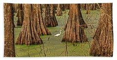 Louisiana Cajun Swamp Beach Towel