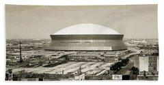 Beach Towel featuring the photograph Louisiana Superdome by KG Thienemann