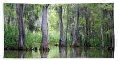 Louisiana Swamp 5 Beach Sheet by Inspirational Photo Creations Audrey Woods