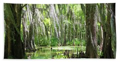 Louisiana Swamp Beach Sheet by Inspirational Photo Creations Audrey Woods