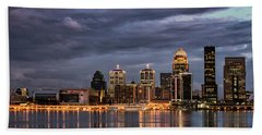 Beach Towel featuring the photograph Louisville At Dusk by Andrea Silies