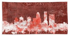 Louisville Kentucky Skyline Vintage 5 Beach Towel