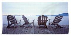 Lounge Chairs Moosehead Lake Me Beach Towel