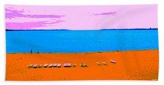 Lounge Chairs On The Beach Beach Towel