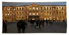 Beach Towel featuring the photograph Louvre Palace, Cour Carree by Mark Czerniec