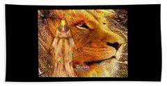 Beach Towel featuring the digital art Love 444 Cecil by Barbara Tristan