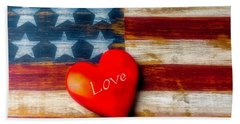 Love America Beach Towel