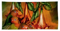 Love Among The Trumpets Beach Towel by Carol Cavalaris