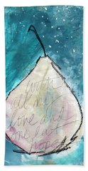 Love And Hope Pear- Art By Linda Woods Beach Towel