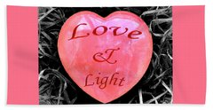 Love And Light Beach Sheet by Hazy Apple
