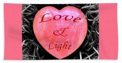 Love And Light Beach Sheet