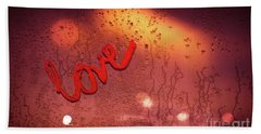 Love And Passion Background Beach Towel