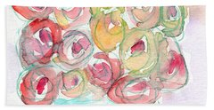 Love And Roses- Art By Linda Woods Beach Towel