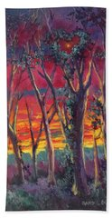 Love And The Evening Star Beach Towel by Randy Burns