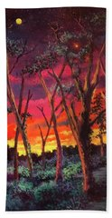 Love And The Evening Star Beach Towel