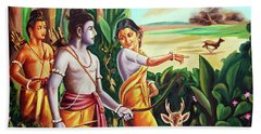 Love And Valour- Ramayana- The Divine Saga Beach Towel