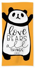 Love Bears All Things Beach Sheet