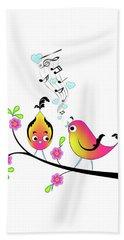 Love Bird Serenade Beach Towel