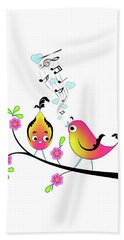 Love Bird Serenade Beach Sheet