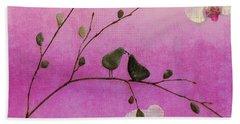 Love Birds Beach Sheet by Andrea Kollo