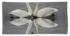 Love Birds  Beach Sheet