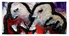Beach Sheet featuring the painting Love Birds by Genevieve Esson
