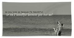 Love Birds Quote Beach Towel