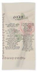 Love By Roy Croft Beach Sheet