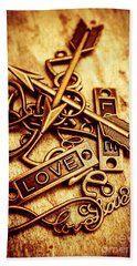 Love Charms In Romantic Signs And Symbols Beach Towel