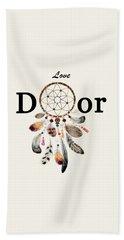 Beach Sheet featuring the painting Love Dior Watercolour Dreamcatcher by Georgeta Blanaru