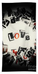 Love In Letters Beach Towel