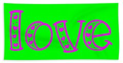 Beach Towel featuring the digital art Love In Magenta And Green by Bee-Bee Deigner