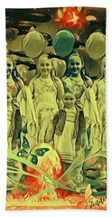 Love In The Age Of War Beach Towel