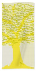Beach Towel featuring the painting Love Inspiration Tree by Go Van Kampen