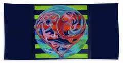Beach Towel featuring the painting Love Is A Planetary Force by Denise Weaver Ross