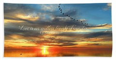 Love Is Endless Wonder Beach Towel