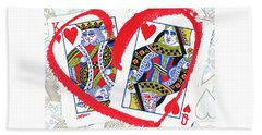 Love Is In The Cards Beach Towel