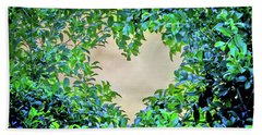 Beach Towel featuring the photograph Love Leaves by Az Jackson