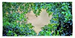 Beach Sheet featuring the photograph Love Leaves by Az Jackson