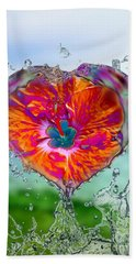 Love Makes A Splash Beach Sheet
