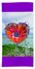 Love Makes A Splash Beach Towel