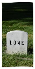 Love Monument Beach Sheet