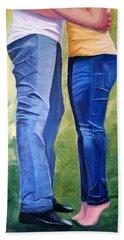 Love My Blue Jeans Beach Sheet